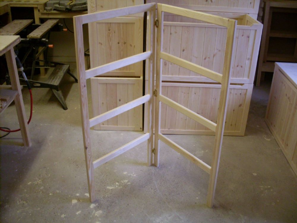 2 Fold Wooden Handmade Pine Clothes Airer Clothes Horse